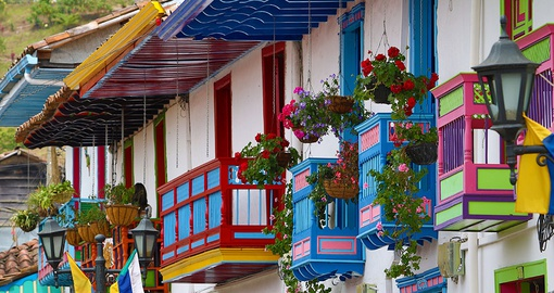 Enjoy traditional towns on your trip to Colombia