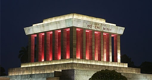 Ho Chi Minh Mausoleum is a very popular stop on a Vietnam vacation.