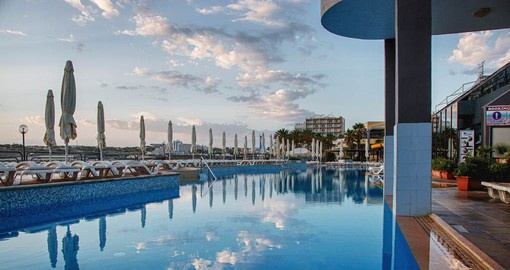 Seashells is located on the seafront affording fantastic views of the Mediterranean