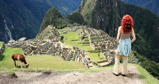 Taking in Machu Picchu