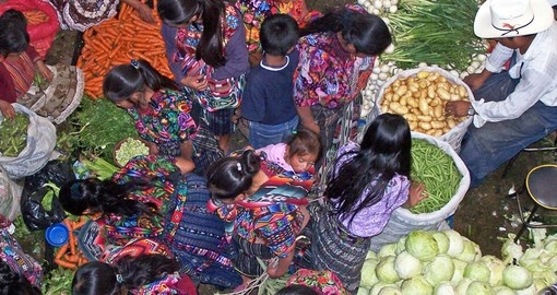 Stroll through vegetable markets in Chichicastenago on your Guatemala Vacation