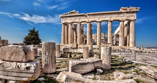 Your Greece vacation package includes a visit to the Acropolis in Athens.