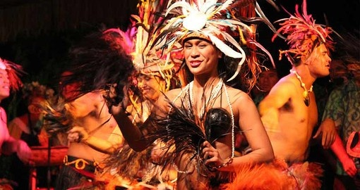 Enjoy the vibrant and exciting entertainment performances at the resort during your South Pacific Vacations