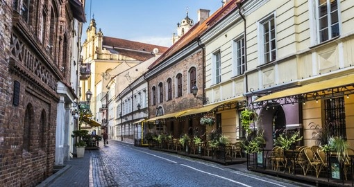 Your Lithuania vacation visits the oldtown of Vilnius