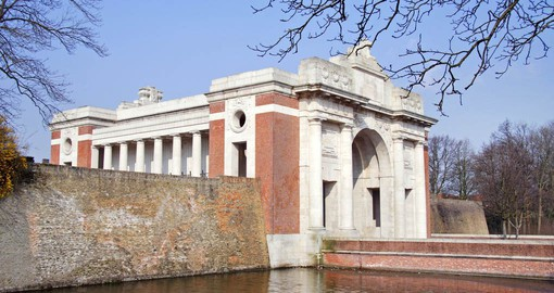 The Menin Gate is in Ypres and it is one of the most visited war memorials in Western Europe