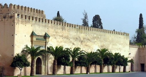 Fortified entrance to medina meknes