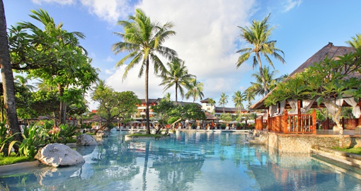 Lagoon pool at Nusa Dua beach hotel and spa