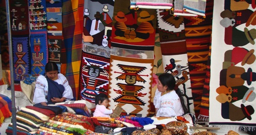 Explore the Otavalo Market on yoru trip to Ecuador