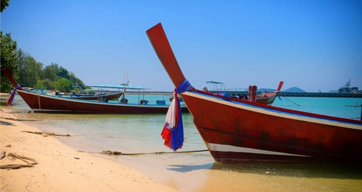 Take a traditional Thai boat on your trip to Thailand