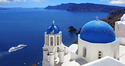 Visit Santorini during your cruise in Greece