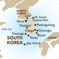 Korea Country Map