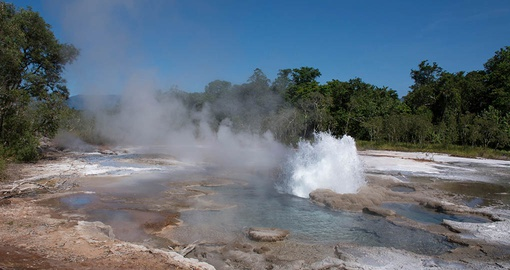 Enjoy the hot springs on Fergusson Island on your South Pacific Cruise