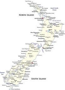 New Zealand Destination Map