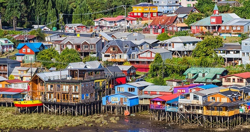 Enjoy the bright colours of Castro on your trip to Chile