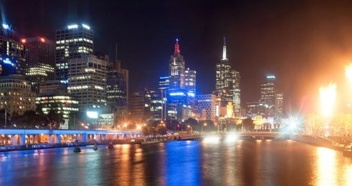 Experience magical view of Melbourne at night on your next Australia tours.