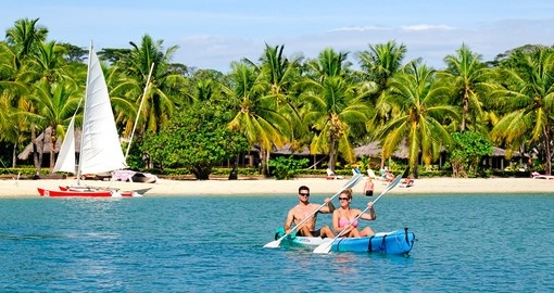 Explore Kayaking at Musket Cove during your next Fiji vacations.
