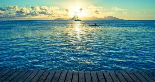 Beautiful sunsets are a great photo opportunity while on your Tahiti vacation