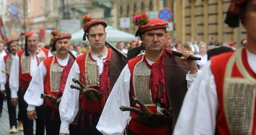 Culturally parade in Zagreb