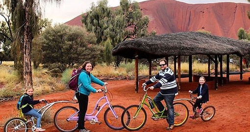 Enjoy a self guided ride around Uluru on your Australia Vacation