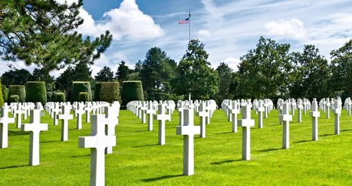 War Cemetery at Omaha Beach in Normandy