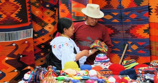 Visit local Otavalo Market and discover Ecudor's cultural items during your next Ecuador vacations.