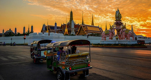 Explore Bangkok by Tuk Tuk on your Thailand vacation