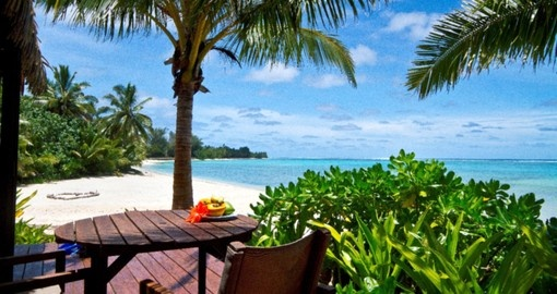Included in your Cook Island Vacation Packages is breakfast on your deck at the Sea Change Villas.