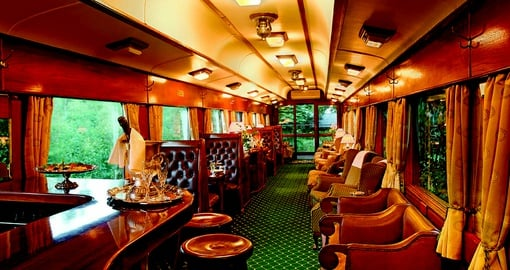 Experience Southern Africa on the classic wood-panelled carriages of the Shongololo Express