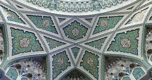 Beautiful decoration in the grand mosque