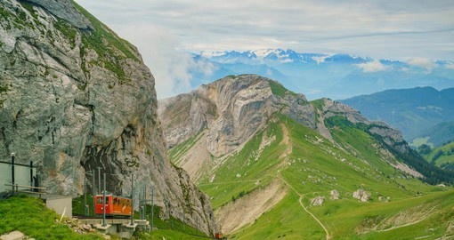 "Mount Pilatus, ""The Dragon Mountain"" offers a view of 73 Alpine peaks"