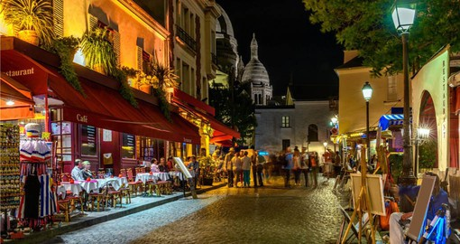 Authentically Parisian, Quarter Montmartre was a mecca for artists, writers and poets in the 19th century