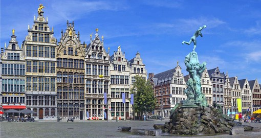 A full day of your Belgium vacation is spent exploring Antwerp and the famous Grote Markt