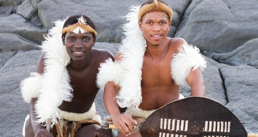 Meet some locals Zulu men during your next trip to South Africa.