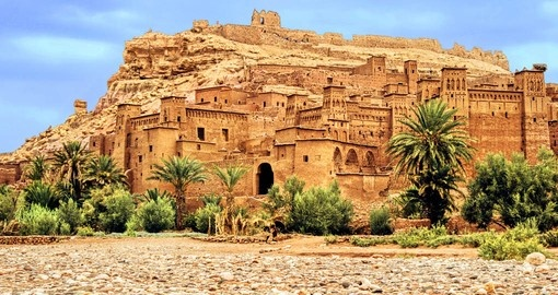 Ait Ben-haddou clay kasbah in Morocco