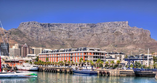 With Table Mountain as its backdrop, the V & A Waterfront is located in Cape Town's oldest working harbour