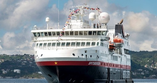 Your Norway cruise is aboard the MS Spitsbergen.