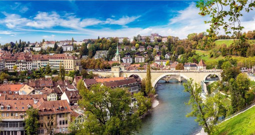Bern is the seat of Switzerland's government. The old town is a UNESCO World Heritage Site