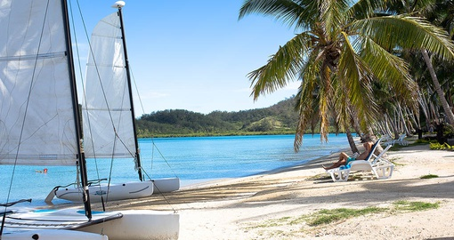 Relax on the beach or enjoy water sports on your Fiji vacation
