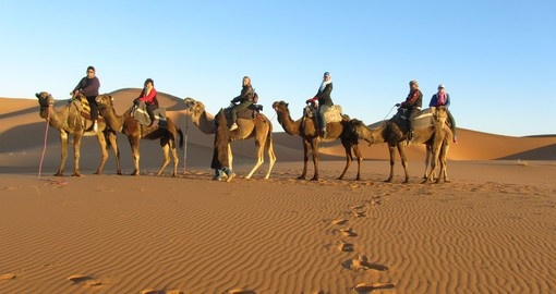 Experience Sunrise camel ride with Goway staff  - Photo credit Raewyn Reid