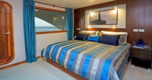 Relax in your luxurious suite on your Galapagos Tour