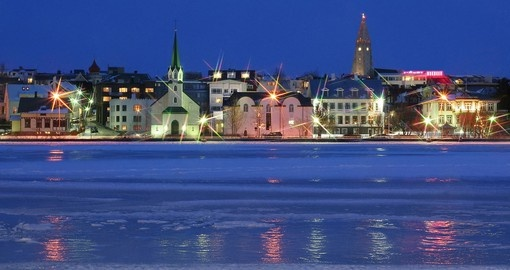 Experience Reykjavik by Night, with lights and fire works the city will look magical.