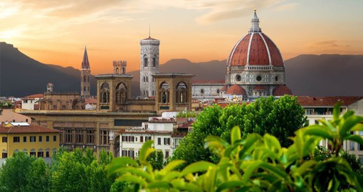 Feast on gourmet Tuscan cuisine in romantic Florence, cradle of the Renaissance