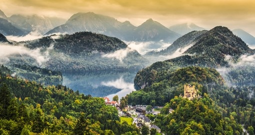Misty day in the Bavarian Alps