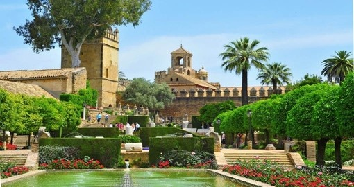 Gardens of Alcazar in Cordoba
