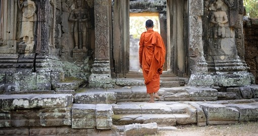 Take in the history of Angkor banteay kdei temple on your Cambodia Vacation