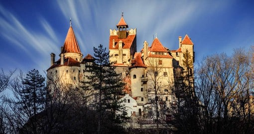 The Gothic Bran Castle was the mythical home of Dracula
