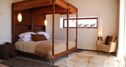 You can expect feel comfortable in Tierra Atacama Hotel rooms on your Chile Vacations.
