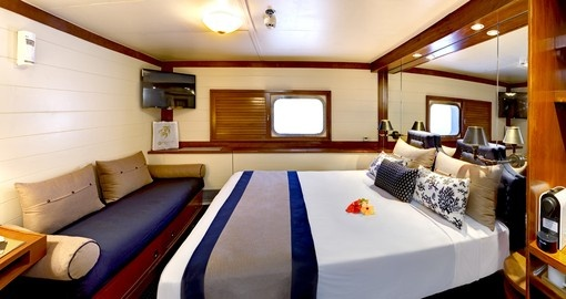Explore all the amenities of the vessel during your next Fiji tours.