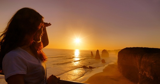 View a stunning sunset on your Australia tour