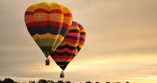 Hot air balloons in New Zealand